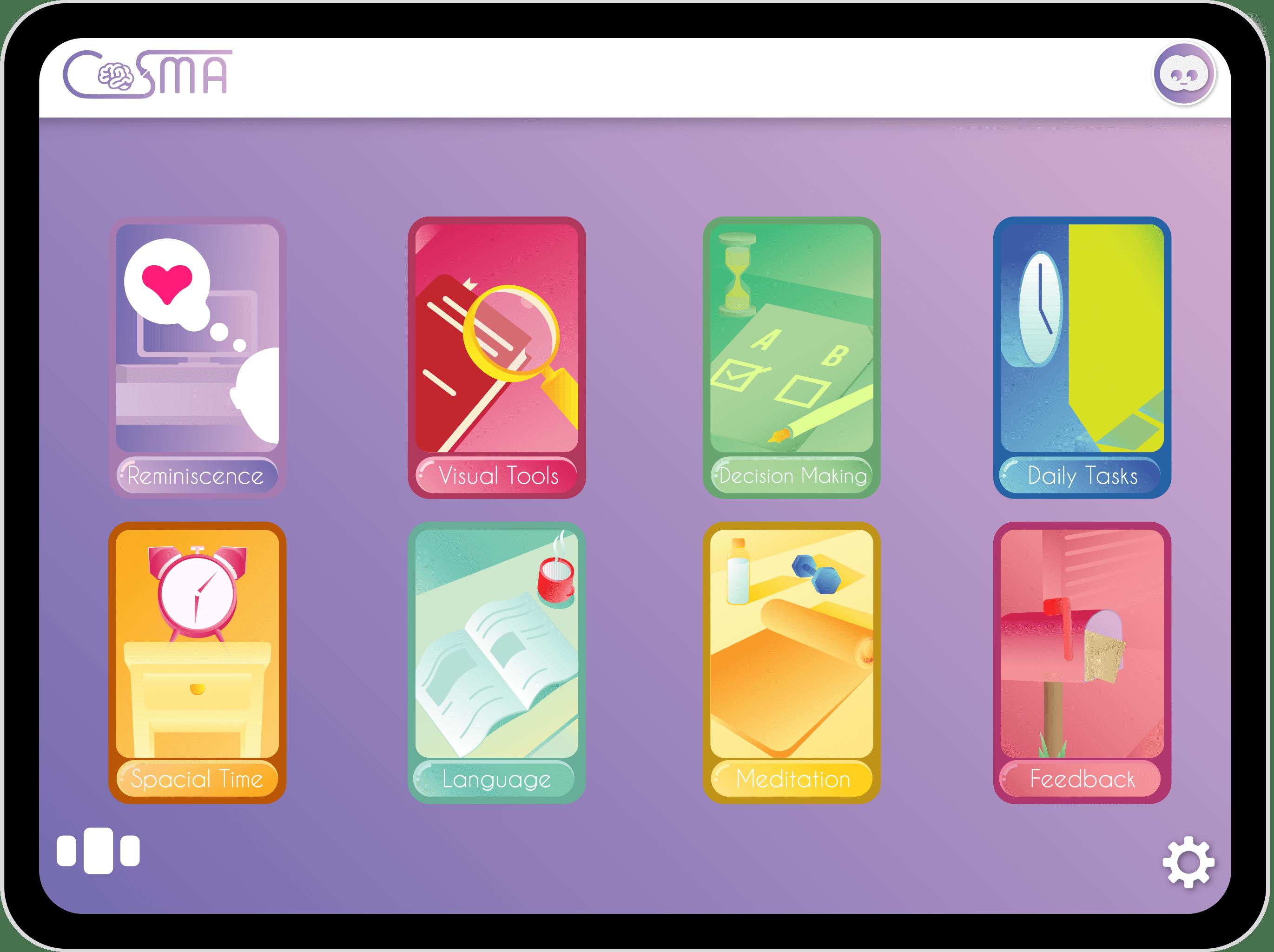 COSMA Dementia product modules